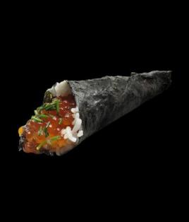 Temaki œuf saumon avocat