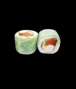 Printemps roll saumon cheese
