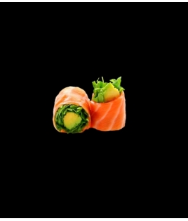 Roquette saumon avocat